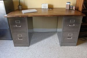 How to Make a Desk with File Cabinets