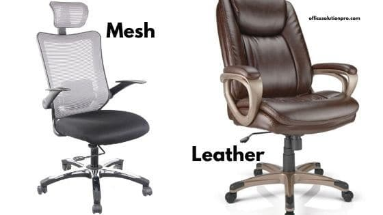 Mesh vs. Leather Office Chairs Comparison